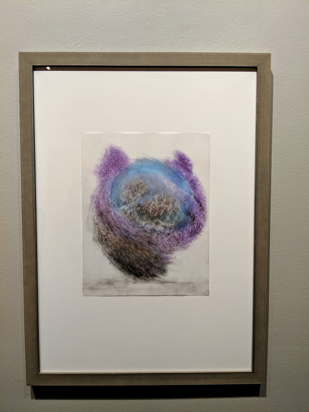 Observed and Recorded Permutation of the Holy Spirit XVII    Medium  graphite/pastel on duralar with wood frame   Size  28 3/8 x 20 7/8 in.   Price $800