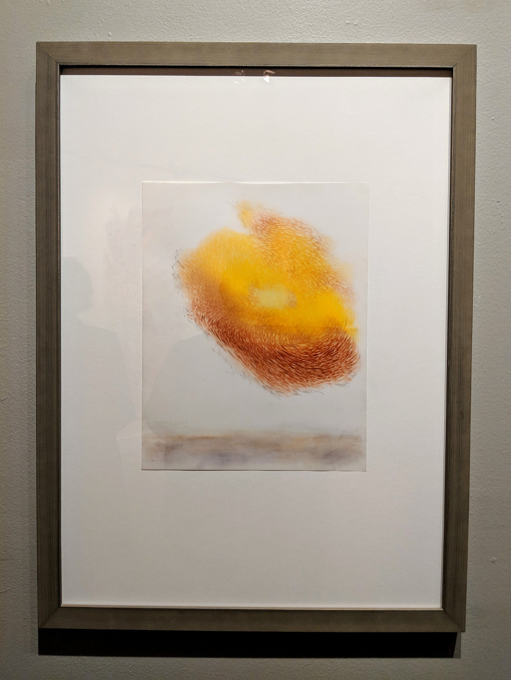 Observed and Recorded Permutation of the Holy Spirit XVIII    Medium  graphite/pastel on duralar with wood frame   Size  28 3/8 x 20 7/8 in.   Price $800