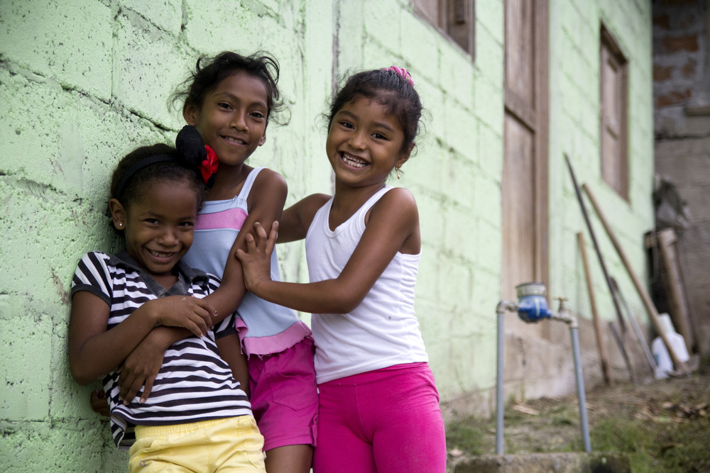 Girls laughing in Esmeraldas, Ecuador. I came here for a week as part of my internship with the NGO.
