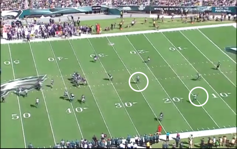 Leaving both Maclin and Celek wide open down the field.