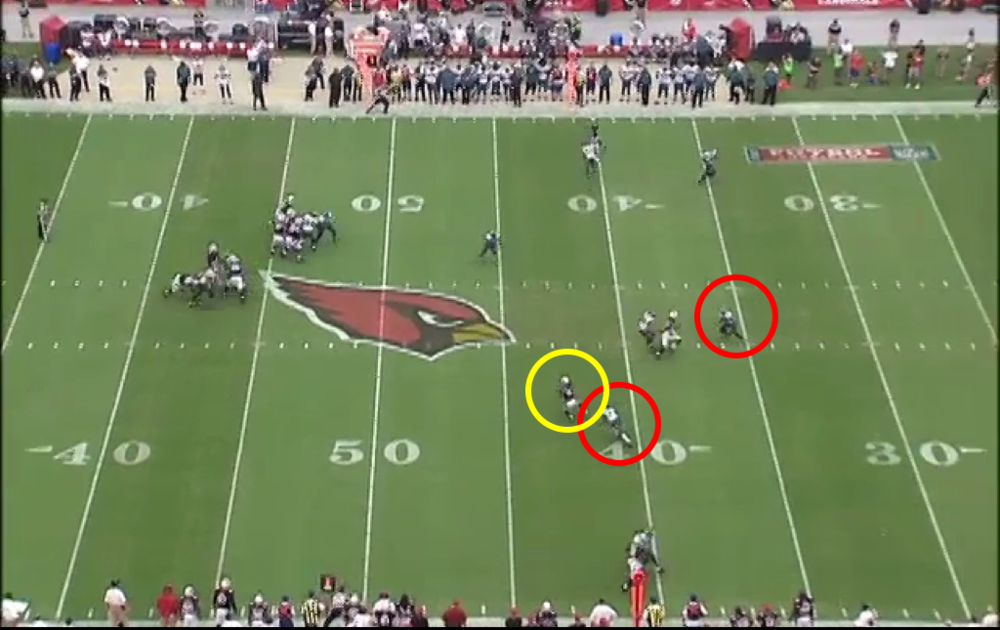 Easy pitch-and-catch. Then Fitz breaks Boykin's tackle attempt.