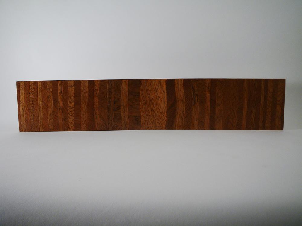 """Laminated Mahogany platter. 6 x 22""""."""