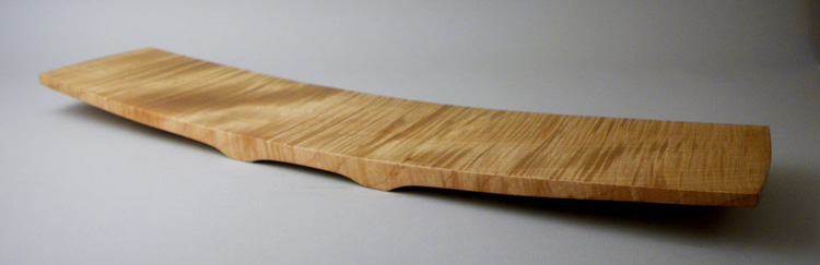 "Curly Maple 8"" x 30""."