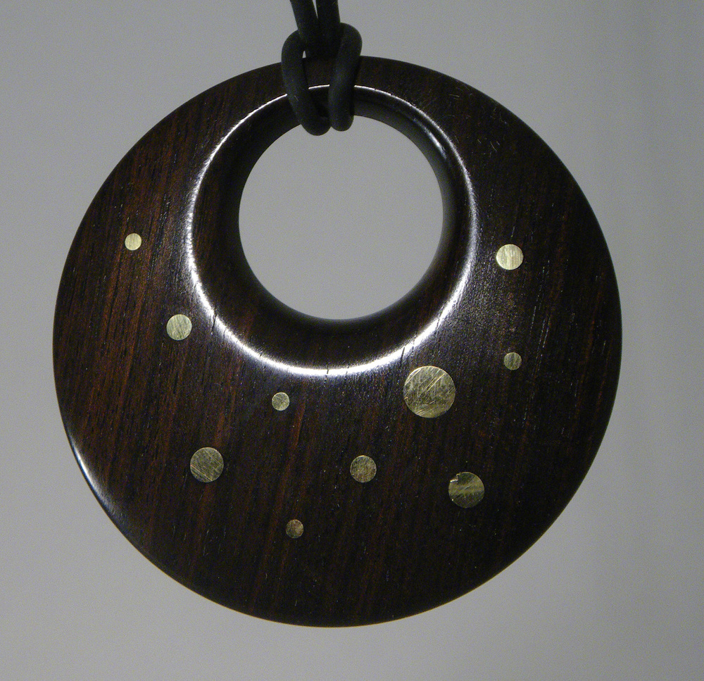 Ebony with Brass inlay