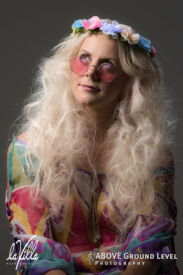 60's hippie look