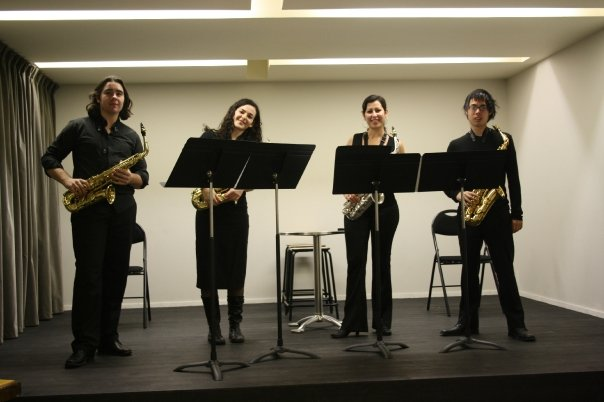 Quartet from Bordeaux Conservatoire performing in Paris