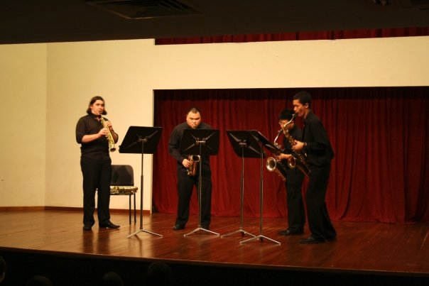 Performing with the Amigo Saxophone Quartet in Singapore