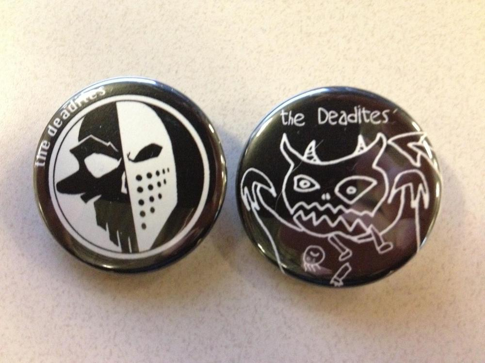 The Deadites Buttons (One of each, while supplies last)