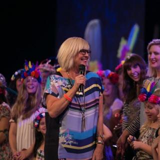 Pastor Chris having a moment among her girls