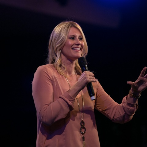 Beautiful Ps. Leanne Matthesius bringing humour and truth