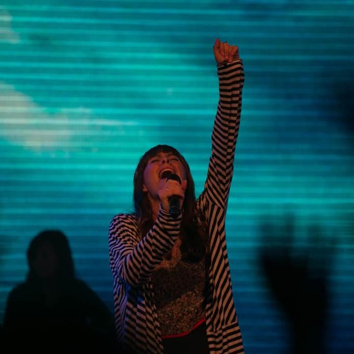 Rebekah Gould in worship