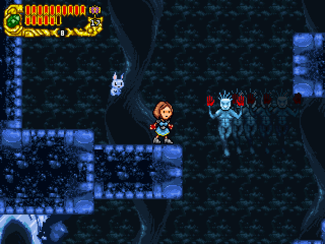 Eternal Daughter is a simple action-adventure game reminescent to NES games of old. Enjoy!