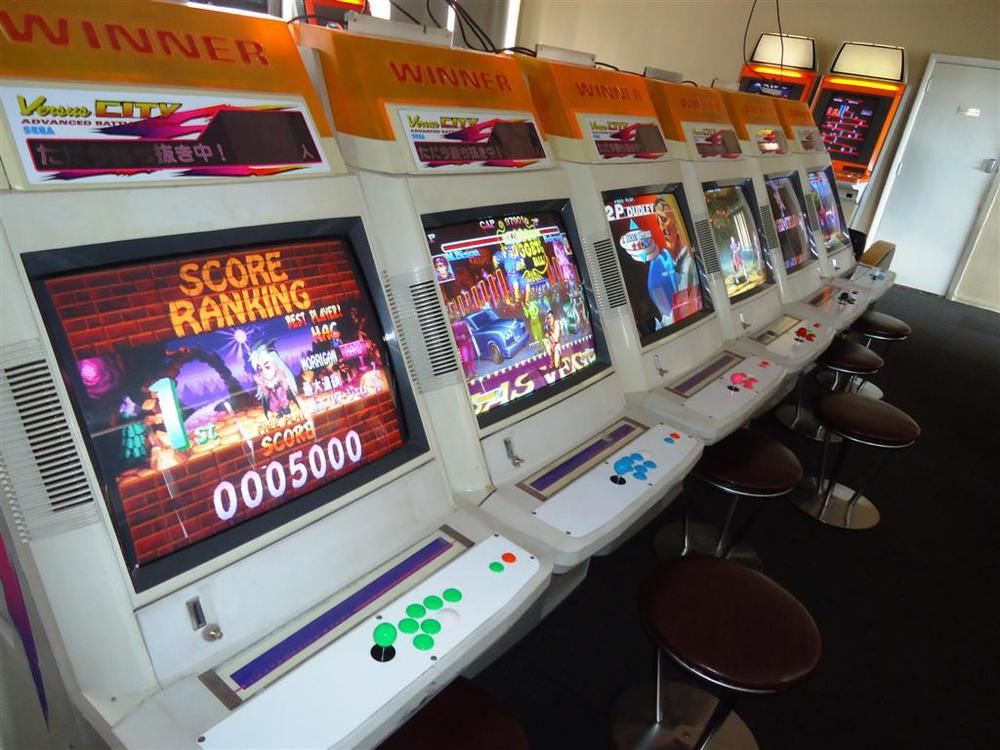There are many arcade machines and if there are any games on the Xbox 360 or PS3 you want to bring with you you can, the machines play those systems too!