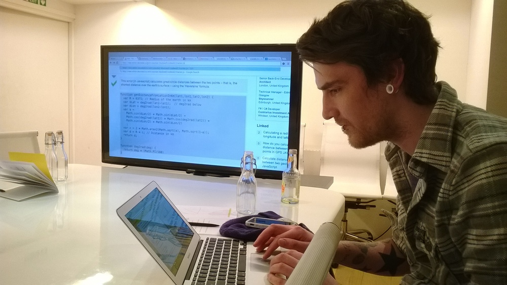 Simon achieving flow during the coding session.
