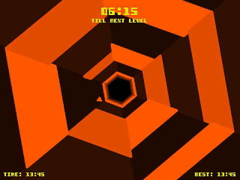 Hexagon- A super addictive game made by Terry Cavanagh at a game jam. He them polished the idea into the amazing Super Hexagon, twitch gaming at its finest!