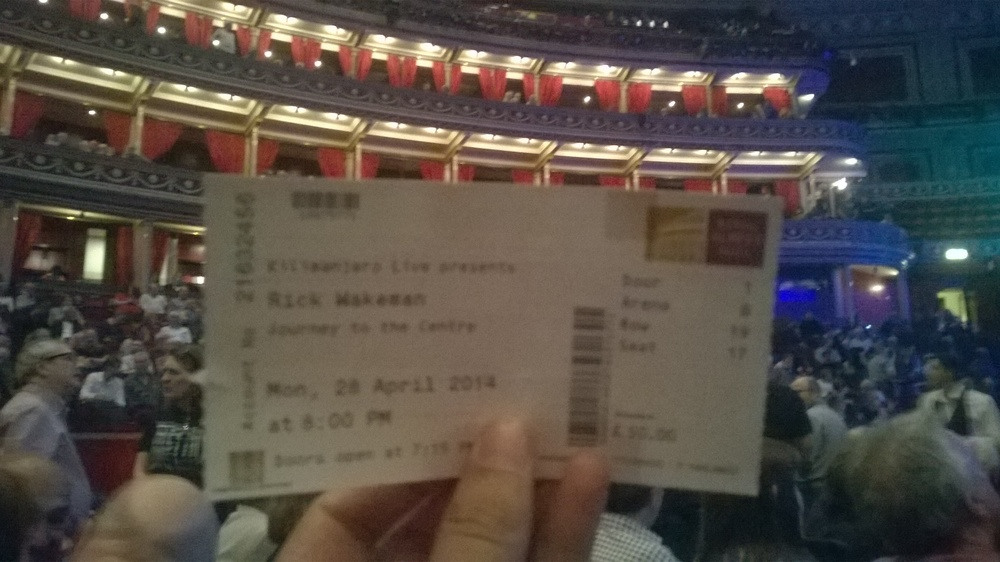 Got my ticket and I'm inside the Royal Albert Hall.