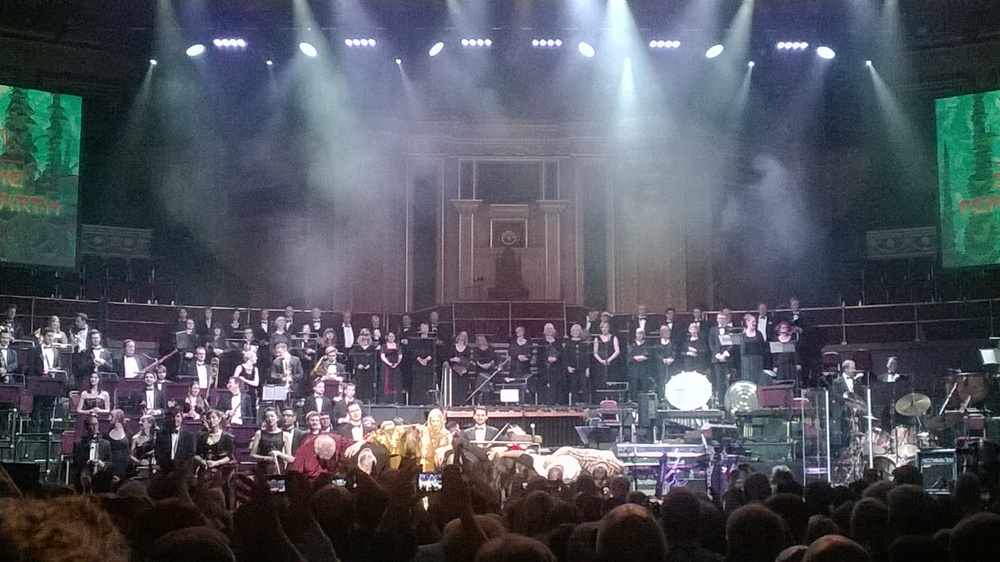 Rick Wakeman and the Orchestra receive their applause... well deserved!
