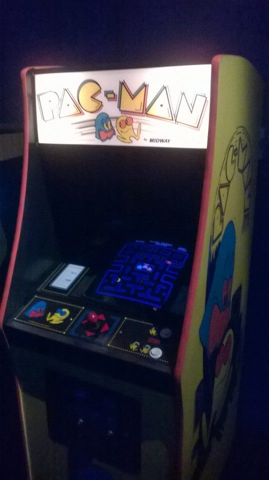 Check out this original arcade machine for Pac Man.