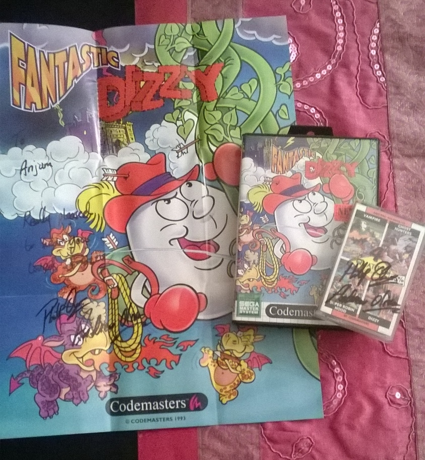 My signed copy of Fantasy Dizzy and Quattro Adventures pack.
