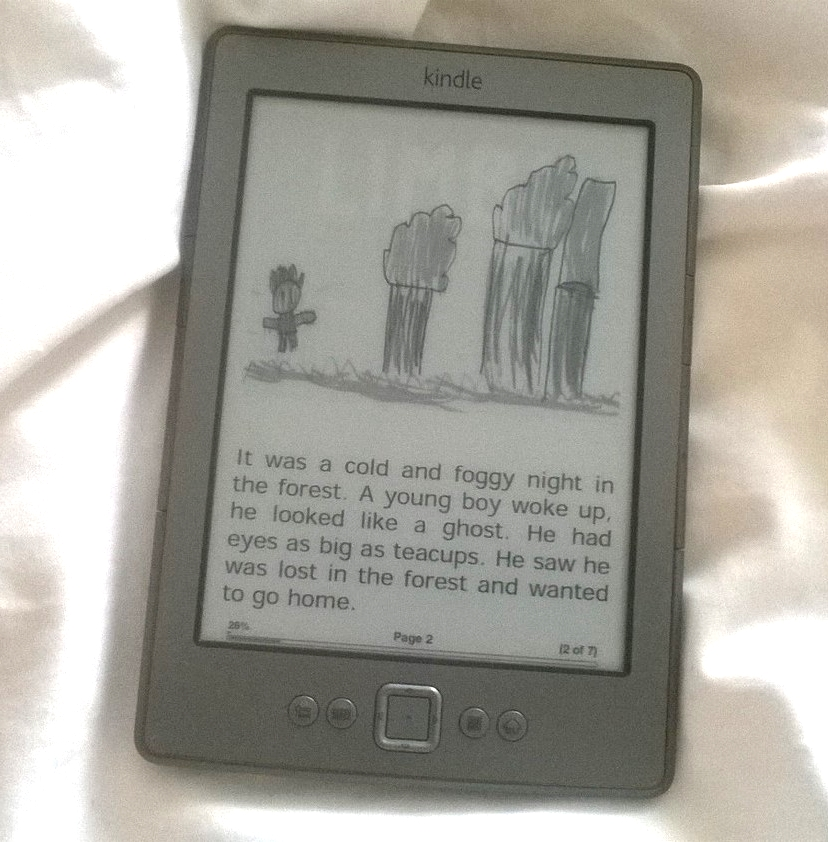 Publishing children's work onto the Kindle is great for their self esteem.