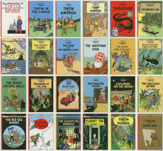 The entire Tintin collection!