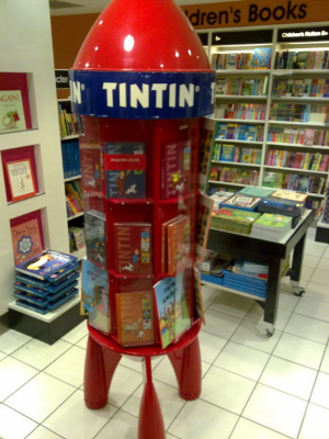 The Tintin Book Rocket stood in the middle of the children's section in my library and I loved it.
