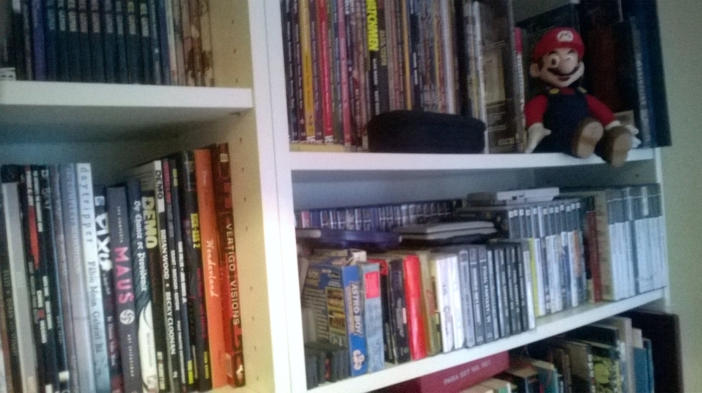 Some of my graphic novel and gaming collection