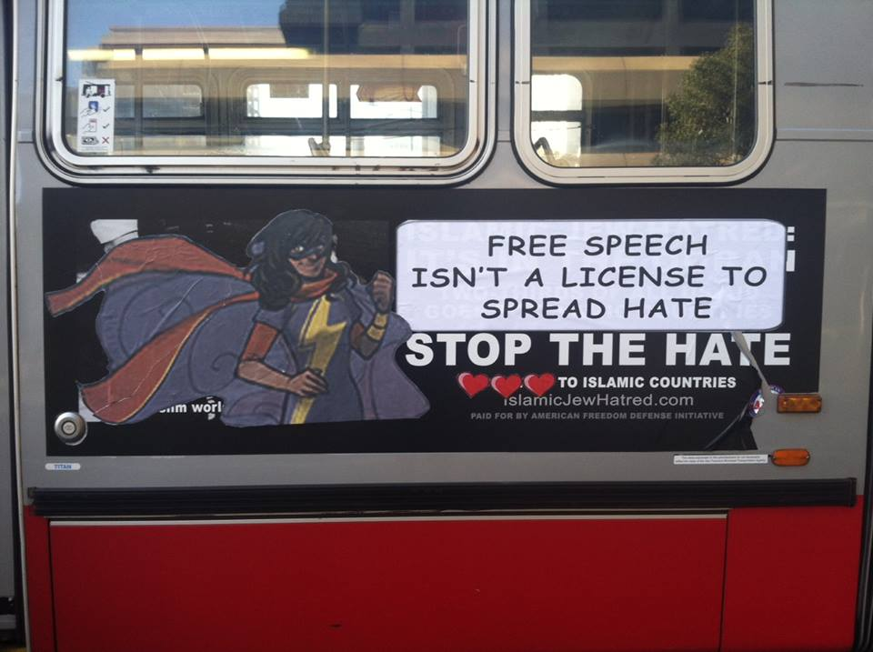 Ms. Marvel San Francisco Bus