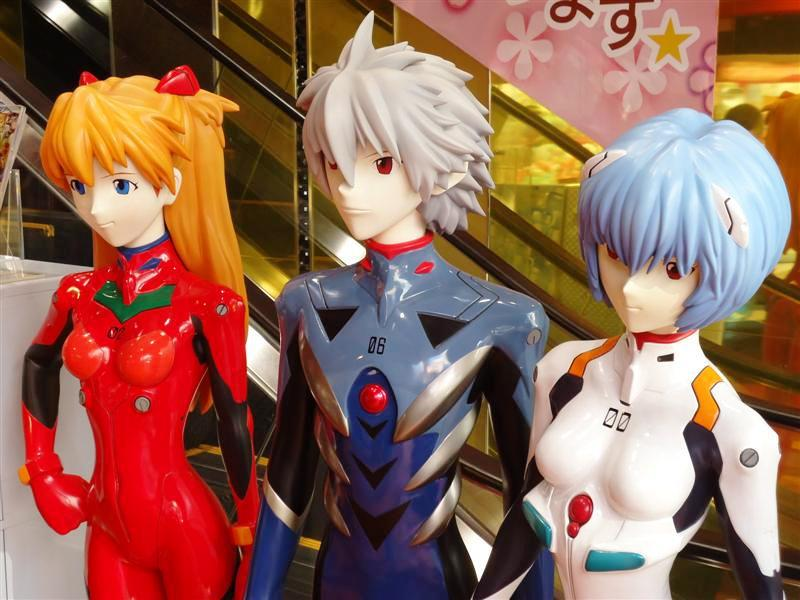 Evangelion is still everywhere in Japan, the cottage industry that grew out of the series is unbelievable. Even in England the amount of Eva related stuff you could buy was mental!