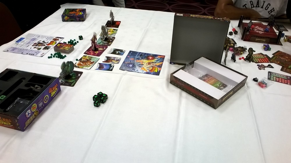 Board games and card games were represented