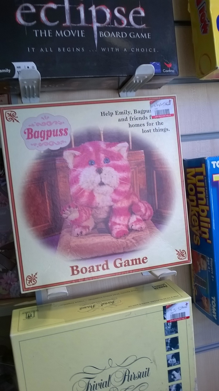 Poor old Bagpuss, he's always left on the shelf.