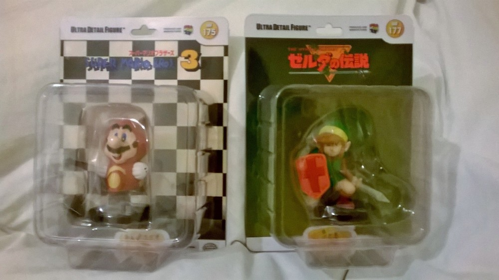 Link and Racoon Mario Figures