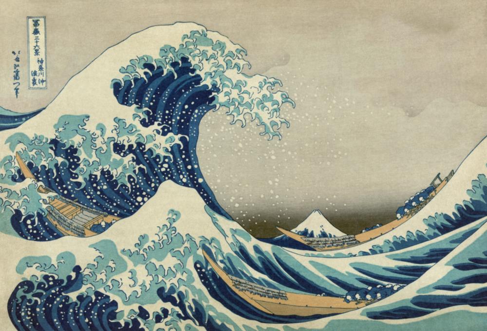 Hokusai-Great Wave Off Kanazawa