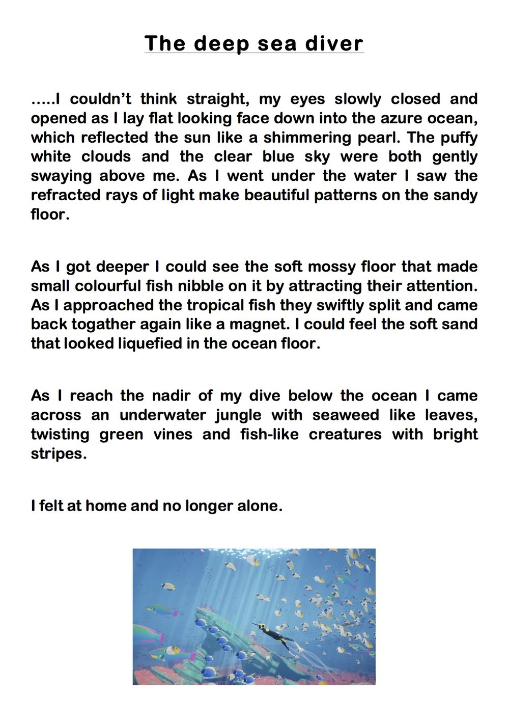 Descriptive essay about the ocean