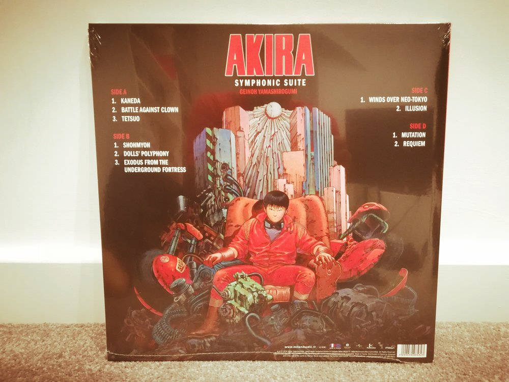 The Akira vinyl soundtrack is beautifully preseneted.