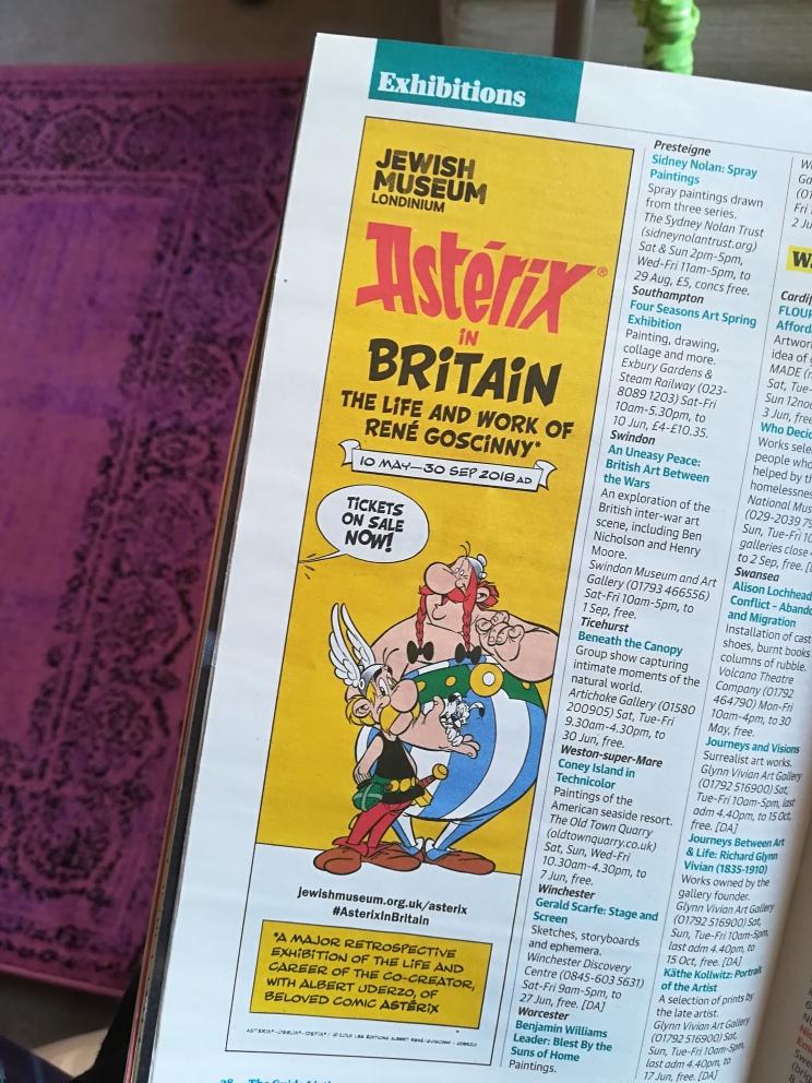 Asterix in Britain Exhibition