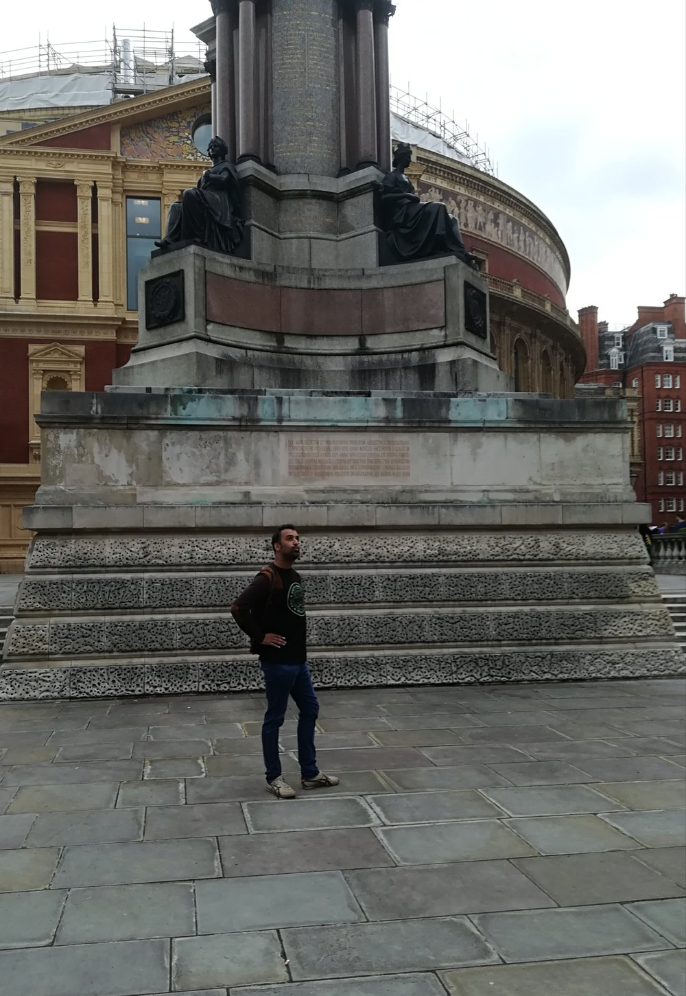 Me, chilling outside the Royal Albert Hall before the concert.