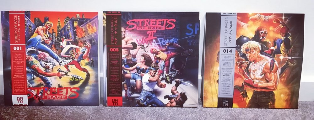 I have all three Streets of Rage games on vinyl and love them, especially the second one!