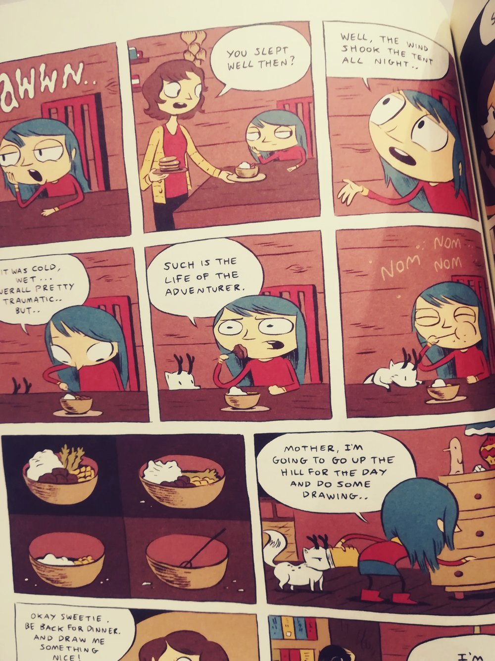 The first 3 Hilda books have a sketchy art style… it's beautifully stylised!