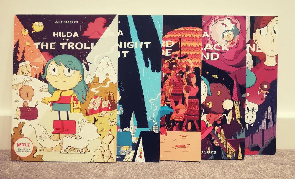 There are 5 Hilda books so far.