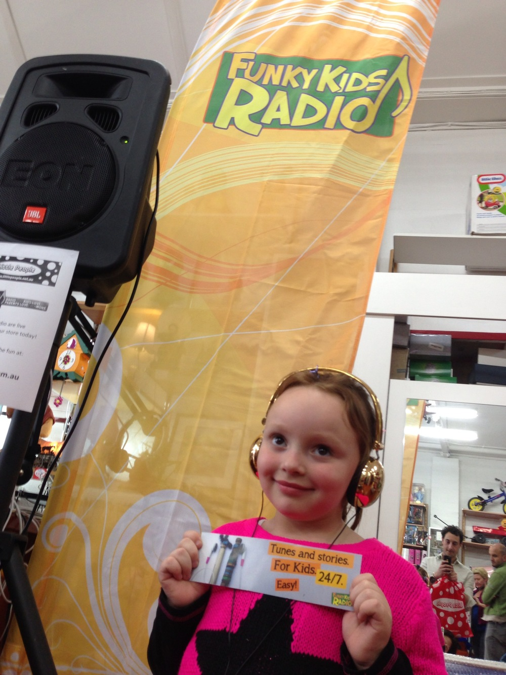Junior Broadcaster, Charlie, at Little People Live Broadcast, 2013