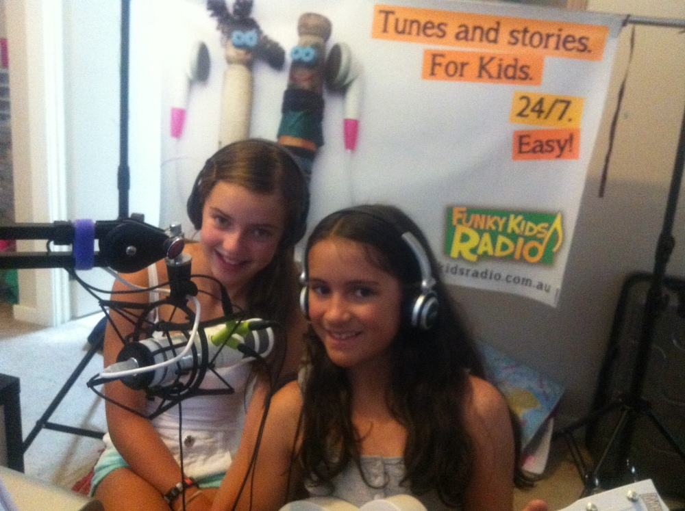 Mikayla and Jean recording for Radio USA