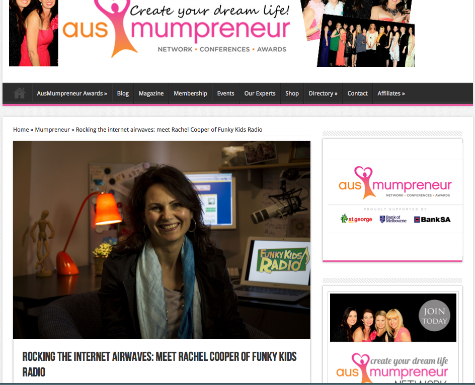 Lovely article in Mumpreneur mag! 2013