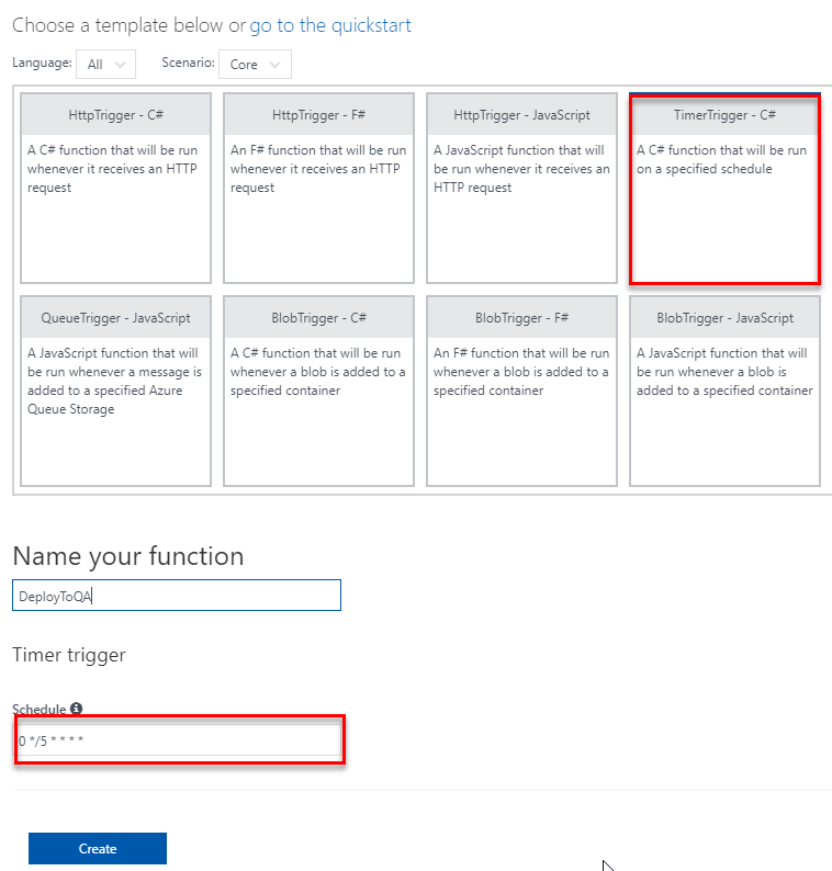 Octopus Deploy - Schedule a deployment at a given time using Azure