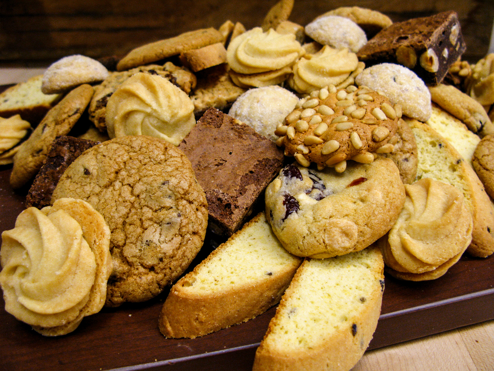 Assorted cookies and bars