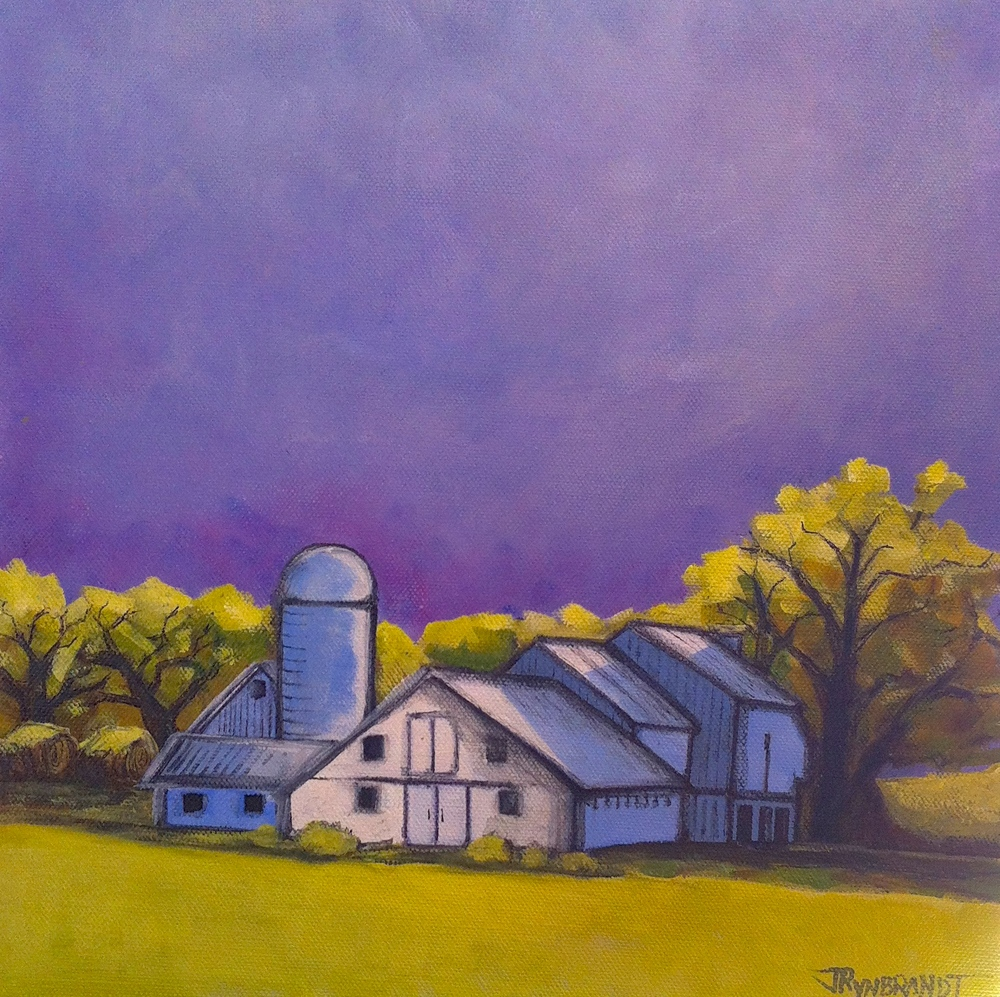 """Farm on Grace Road, #2"" Acrylic - Jennifer Wilkinson Rynbrandt"