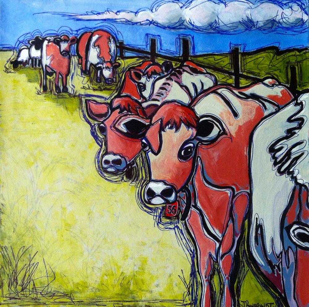 """""""Tag #56"""", acrylic, Jennifer Wilkinson Rynbrandt"""