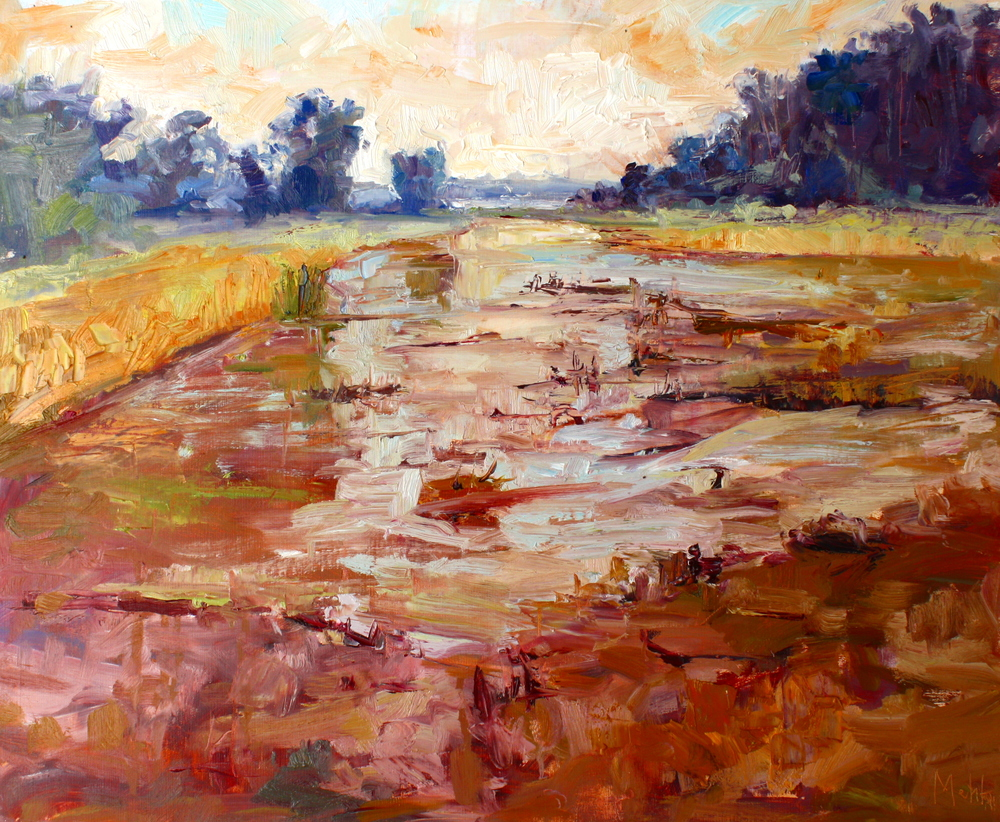 """Across the Ibis Pond"", oil, Lynn Mehta"