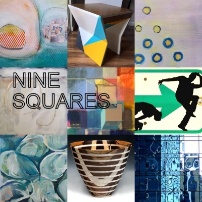 Nine Squares Exhibit, curated by Kellee Wynne Conrad at west Annapolis Artworks