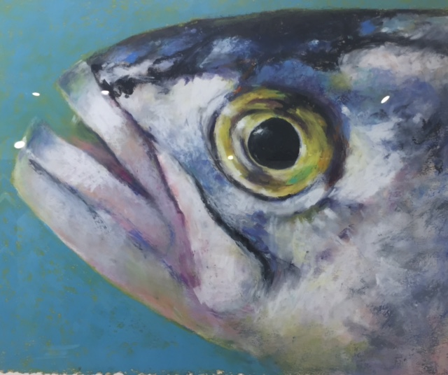 Gail Higginbotham Fish eye 2 oil pastel at West Annapolis Artworks (1).jpg